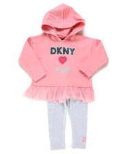 DKNY Jeans - 2 Piece Pullover Top & Legging Set (2T-4T)-2247062