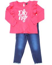 DKNY Jeans - 2 Piece Ruffle Top & Denim Set (2T-4T)-2247036