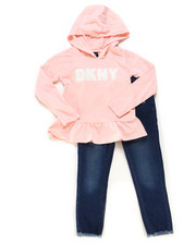 Sizes 4-6x - Kids - 2 Piece Hooded Top & Jegging Set (4-6X)-2247044