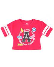 Sizes 2T-4T - Toddler - Crop Top w/Foil Stripes (2T-4T)-2246964
