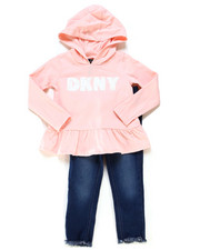 Girls - 2 Piece Hooded Top & Jegging Set (2T-4T)-2247368