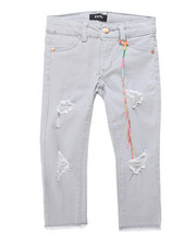 Girls - Raw Hem Rip/Repair Twill Pants (4-6X)-2247629