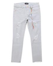 Girls - Raw Hem Rip/Repair Twill Pants (7-16)-2247613