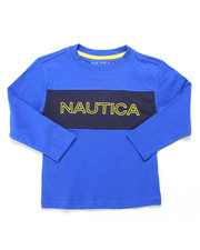 Nautica - Color Block Long Sleeve Tee (2T-4T)-2247527