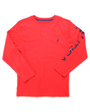 Nautica - Solid Long Sleeve T-Shirt (8-20)-2247479