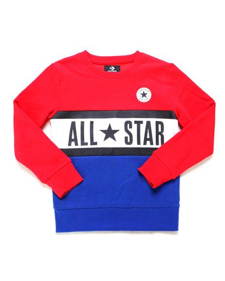 Converse - All Star Paneled Crew Sweatshirt (8-20)