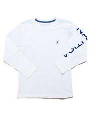 Nautica - Solid Long Sleeve T-Shirt (8-20)-2247590