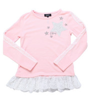 Girls - Sleeve Lace Jessica Hacci Top (7-16)-2247709