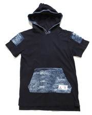 Southpole - Denim Trimmed Hooded Tee (8-20)-2248463