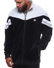 Light Jackets - Contrast Yoke Velour Jacket (B&T)-2248556