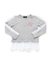 Girls - Sleeve Lace Jessica Hacci Top (7-16)-2247704