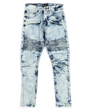 Bottoms - Pleated Knee Moto Jeans (8-20)-2249472