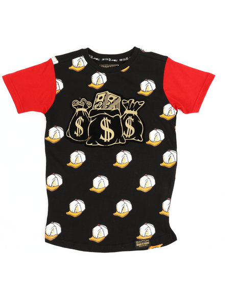 SWITCH - All Over Printed Tee w/Patch (4-7)