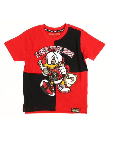 SWITCH - Color Block Graphic Tee w/Embroidery (4-7)