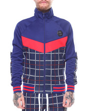Track Jackets - Plaid Track Jacket-2250531