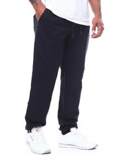 Big & Tall - Basic Solid French Terry Joggers (B&T)-2251615