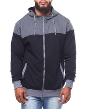 Light Jackets - 2-Tone Quilted Fleece Hood (B&T)-2251191