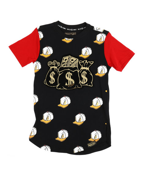 SWITCH - All Over Printed Tee w/Patch (8-20)
