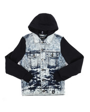 Denim Jackets - Hooded Denim Jacket (8-20)-2249372