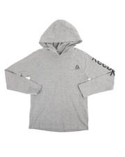 Boys - Marled Heather Long Sleeve Hooded Tee (8-20)-2250139