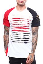 Shirts - Colorblock Lazor Slashed Tee-2252343