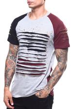 Shirts - Colorblock Lazor Slashed Tee-2252355