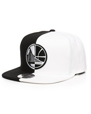 Mitchell & Ness - Golden State Warriors Black/White Split Snapback Hat-2250897