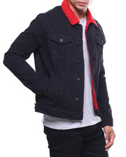 SMOKE RISE - SHERPA DENIM JACKET-2252526
