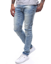 SMOKE RISE - ARTICULATED EMOSSED KNEE JEAN-2251822