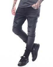 Jeans & Pants - Sean Distressed Stretch Jean w Zip Ankle detail-2251894