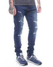 Jeans & Pants - Sean Distressed Stretch Jean w Zip Ankle detail-2251887