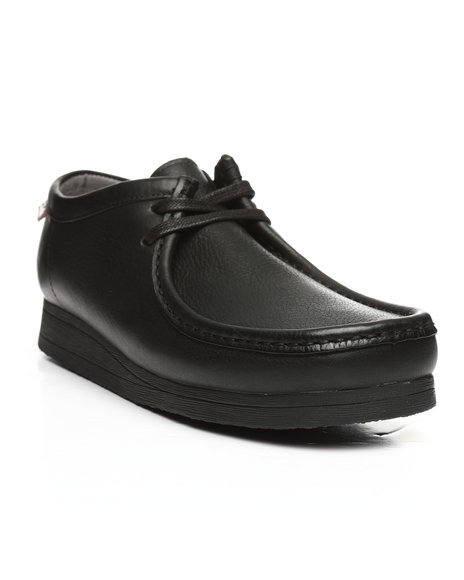 Clarks - Stinson Lo Black Leather Shoes