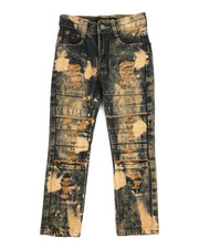 Jeans - Cut & Sew Knee Jeans (4-7)-2251661