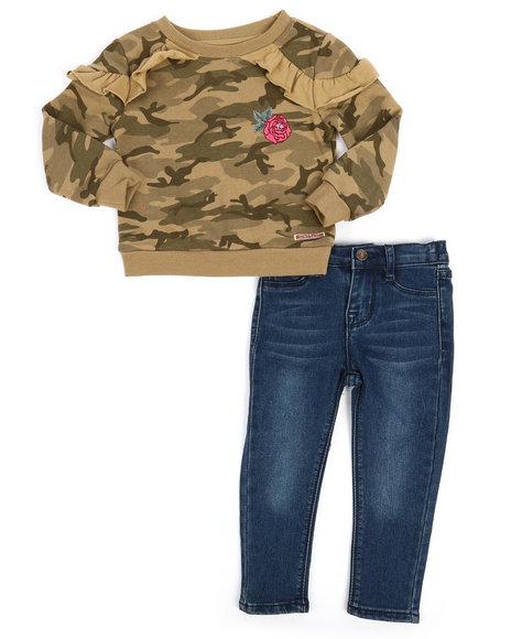 Hudson Outerwear - 2 Piece Pullover & Denim Jeans Set (2T-4T)