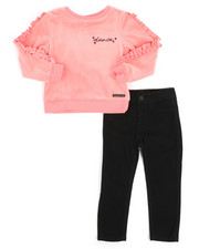 Girls - 2 Piece Stretch Velour Pullover & Stretch Pant Set (2T-4T)-2250070