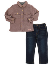 Sets - 2 Piece French Terry Shirt & Jeans Set (2T-4T)-2250090