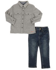 Sets - 2 Piece French Terry Shirt & Jeans Set (2T-4T)-2250094