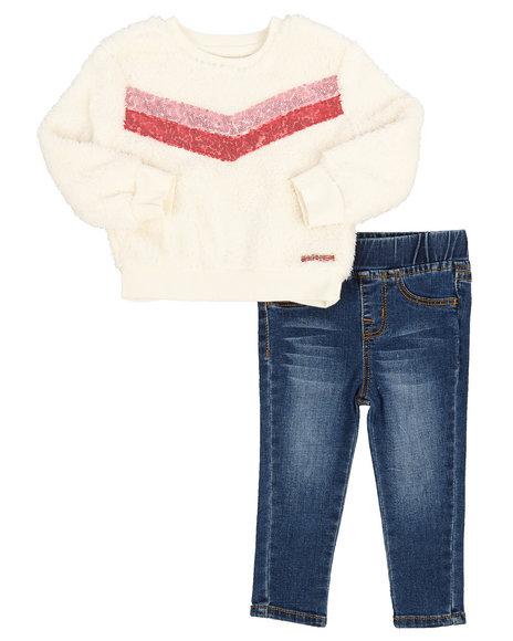 Hudson Outerwear - 2 Piece Sherpa Pullover & Denim Legging Set (Infant)