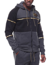 SWITCH - colorblock hoody w gold trim-2253528