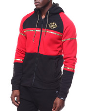 SWITCH - colorblock hoody w gold trim-2253521