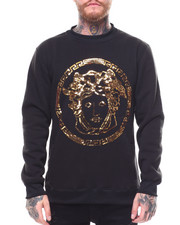 Sequin Medusa Face Crewneck Sweatshirt