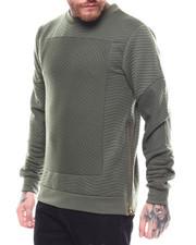 Buyers Picks - Quilted Crewneck Fleece w Zip Detail-2254866