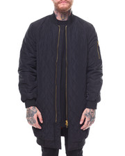 Heavy Coats - Quilted Long Bomber Jacket -2255166