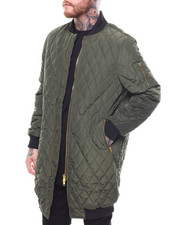 Heavy Coats - Quilted Long Bomber Jacket-2255181