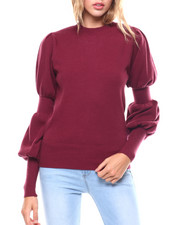 Sweaters - Gathered Sleeve Sweater-2251106