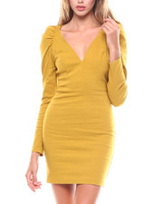 Bodycon - Puff Shoulder Dress-2251131