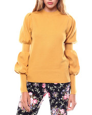 Sweaters - Gathered Sleeve Sweater-2251127