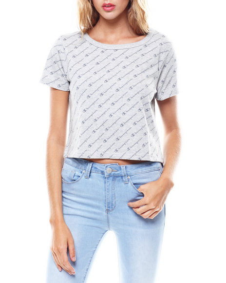 Champion - All Over Print Cropped Tee