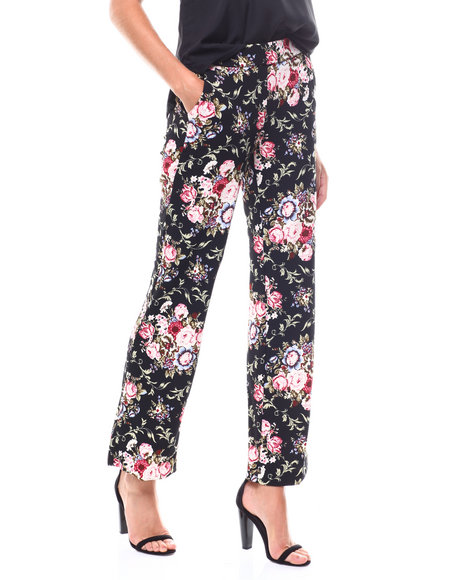 Boom Boom Jeans - Floral Hi Rise Wide Leg Trouser