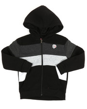 Hoodies - Color Block Fleece Full Zip Hoodie (4-7)-2254971